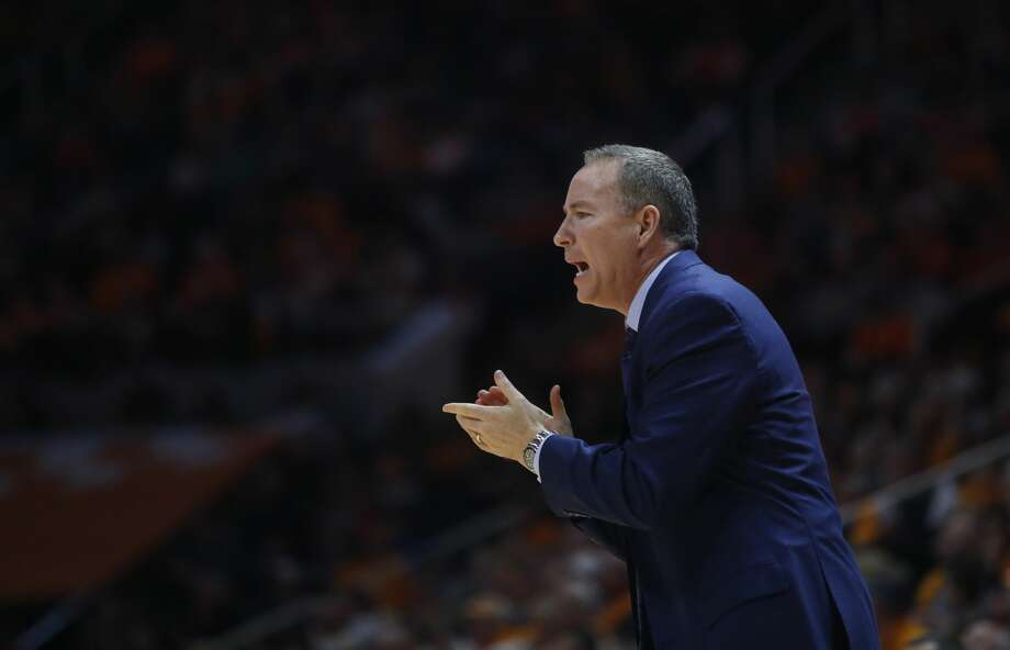 Texas A&M head coach Billy Kennedy claps for his team in the second half of an NCAA college basketball game against Tennessee on Saturday, Jan. 13, 2018, in Knoxville, Tenn. (AP Photo/Crystal LoGiudice) Photo: Crystal LoGiudice/Associated Press