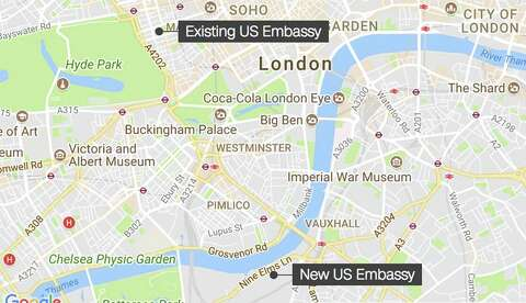 Former Us Embassy In London To Become Luxury Rosewood Hotel Sfgate - Us-embassy-london-map