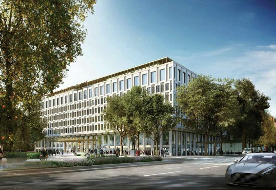Rendering of new Rosewood hotel on London's Grosvenor Square- former US Embassy Photo: Qatari Diar
