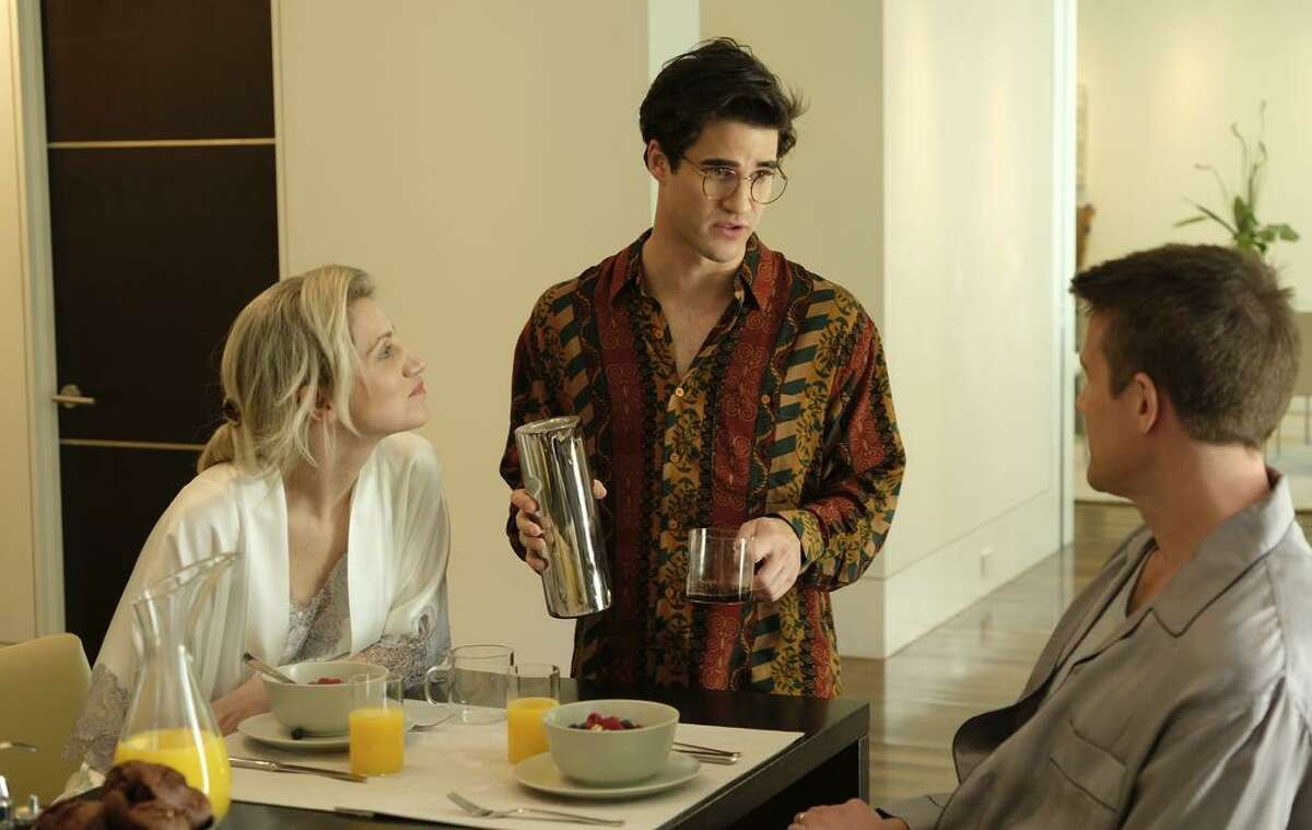 Annaleigh Ashford (left), Darren Criss and Nico Evers- Swindell in the FX miniseries