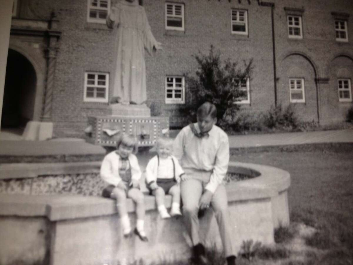 1. I'm the second oldest of seven kids. My 1-year-old brother Joe and my 3-year-old sister rode along when I was dropped off at college. One of my most treasured photos is of the three of us in the quad at St. Bonaventure.