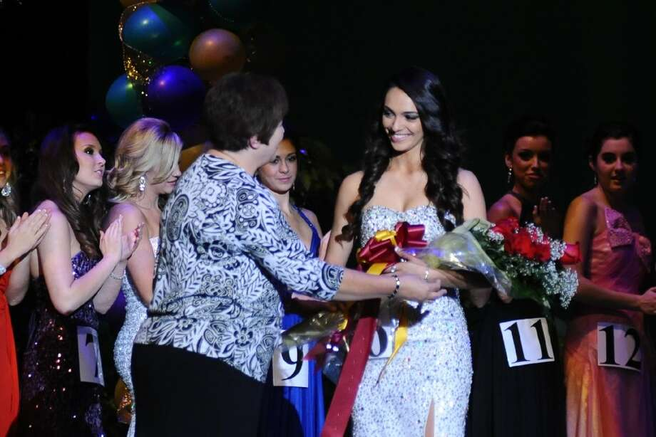 The 64th annual Majestic Court at Deer Park High School is set for Jan. 18. The 40 contestants are distinguished members of the Class of 2018 who were chosen by fellow students and the nominations of DPHS faculty and staff. At last year's event, Elizabeth Martinez receives a bouquet of flowers after being named to the court.