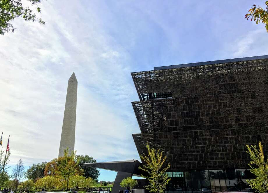 The National Museum of African American History & Culture, which opened in 2016, is located in Washington DC on the National Mall near the Washington Monument Photo: Chris McGinnis