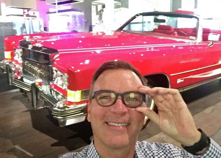 Chris McGinnis and Chuck Berry's red Eldorado at National Museum of African American History & Culture in Washington, D.C. Photo: Chris McGinnis