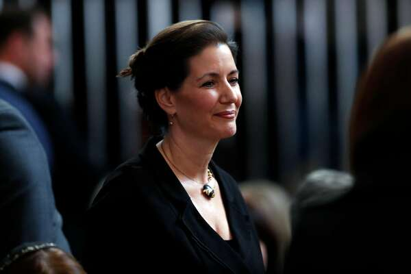 SAN FRANCISCO, CA - DECEMBER 17: Oakland Mayor Libby Schaaf during a service Celebrating the Life of Mayor Edwin M. Lee at San Francisco City Hall in San Francisco, Calif., on Sunday, December 17, 2017. (Photo by Scott Strazzante-Pool/Getty Images)