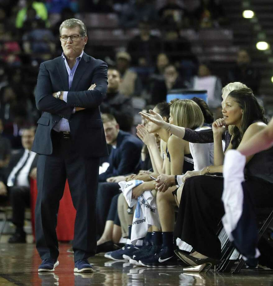 UConn coach Geno Auriemma looks on from the sideline during Saturday's win over Houston. Photo: Karen Warren / Houston Chronicle / © 2018 Houston Chronicle