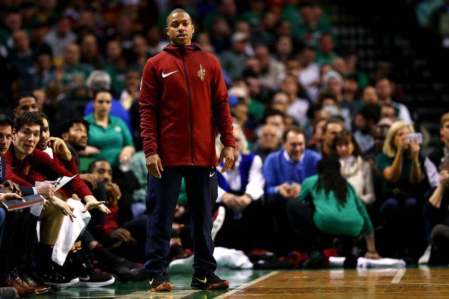 BOSTON, MA - JANUARY 3: Isaiah Thomas #3 of the Cleveland Cavaliers looks on from the bench during the second half against the Boston Celtics at TD Garden on January 3, 2018 in Boston, Massachusetts. (Photo by Maddie Meyer/Getty Images) Photo: Maddie Meyer, Getty Images