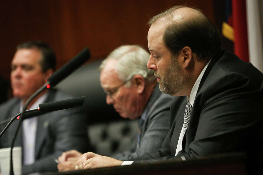 Conroe City Councilman Duke Coon urged the council to move slower on pushing for a new event center until a feasibility study for a facility is complete. Photo: Michael Minasi, Staff Photographer / Internal