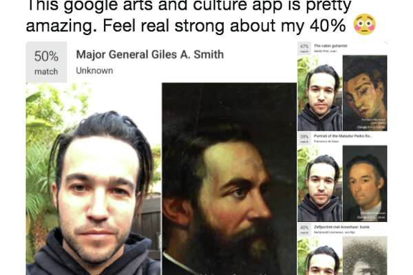 "Musician Pete Wentz tweeted out a few of the doppelganger suggestions from Google, calling the app ""pretty amazing."""