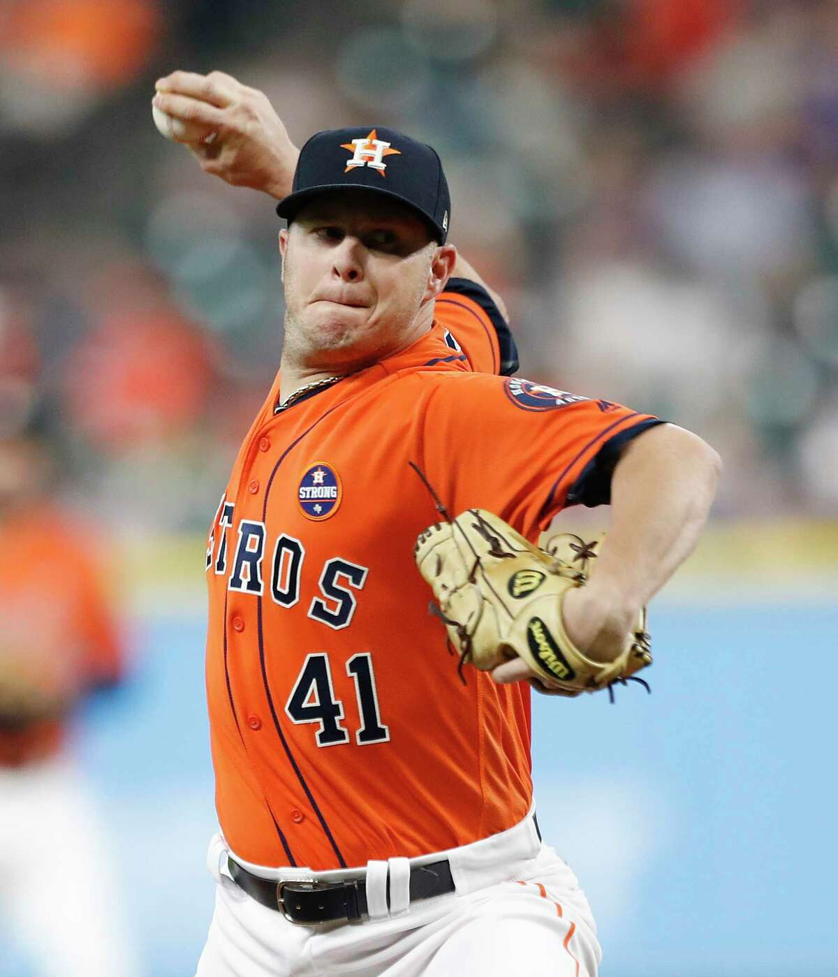 Brad Peacock was comfortable in a relief role for the Astros in 2017, posting a 1.77 ERA in 201⁄3 innings out of the pen.