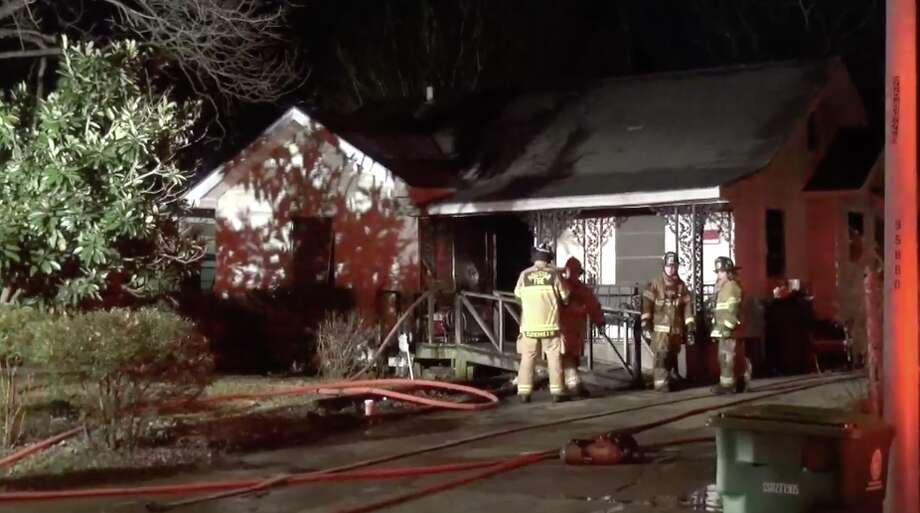 A space heater may be to blame for an east Houston house fire, investigators said. Photo: Metro Video