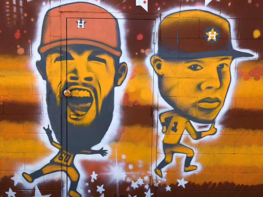Astros fans who drove by the Heights-area mural probably noticed that there were few new welcome additions to the outdoor artwork. This past week caricatures of four Astros stars to the mix and even more might be added, according to the artist. Dallas Keuchel, Jose Altuve, George Springer, and Carlos Correa are all now incorporated into the mural.See more photos of the epic mural in the Heights... Photo: Craig Hlavaty