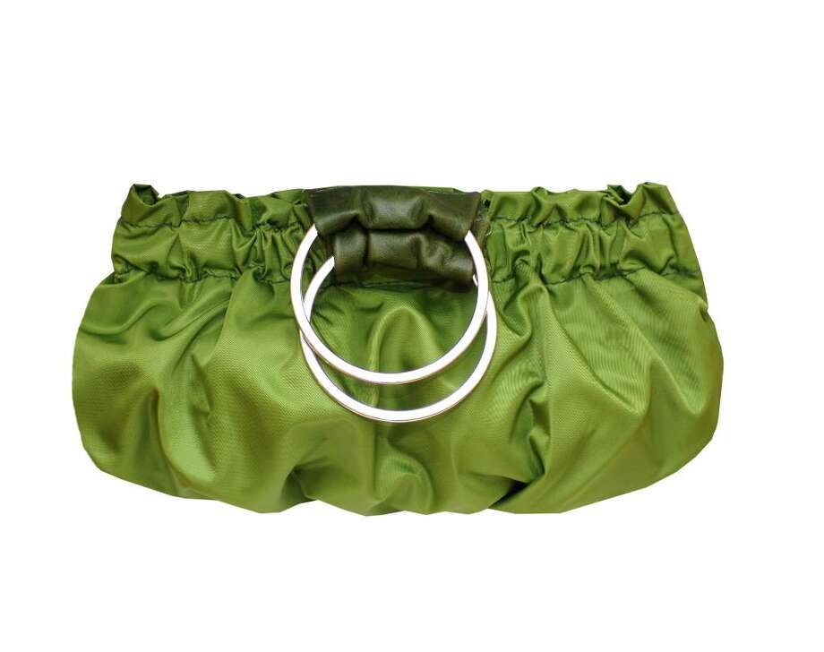 Coco clutch in avocado, retails for $255