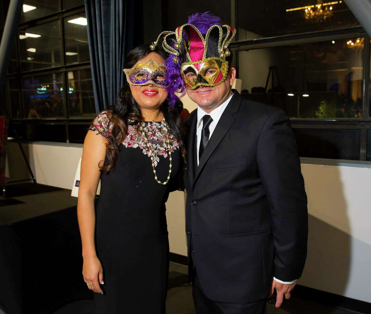 Ofelia and Domenic Laurenzo at the Greater Houston Restaurant Association's Golden Fork Awards Gala downtown on Saturday, Jan. 13, 2018.