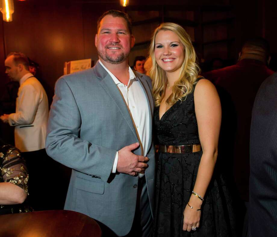 Restaurateurs of the Year Paul Miller and Doris Miller of GR8 Plate Hospitality at the Greater Houston Restaurant Association's Golden Fork Awards Gala downtown on Saturday, Jan. 13, 2018. Photo: Annie Mulligan / @ 2018 Annie Mulligan