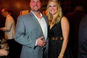 Restaurateur of the Year Paul Miller of GR8 Plate Hospitality and his wife Doris at the Greater Houston Restaurant Association's Golden Fork Awards Gala downtown on Saturday, Jan. 13, 2018.