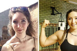 Fitness blogger Sophia Ellis , 21, says she overcame anorexia and bulimia thanks to becoming vegan and beginning to body build.