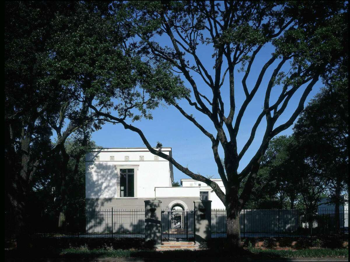 The east facade of a home Will Cannady designed for his own family in HoustonÂ?'s Museum District.