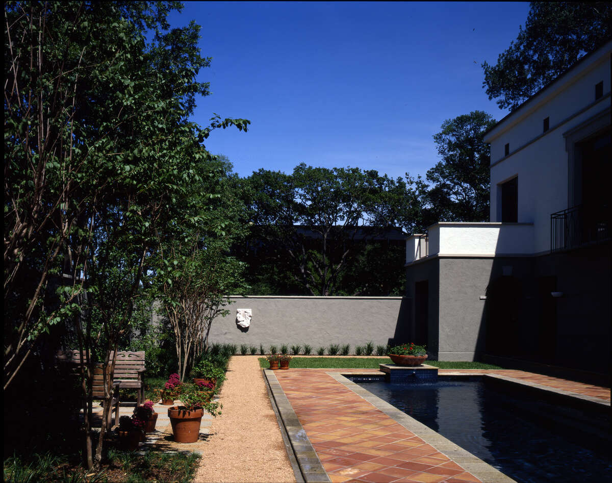 The pool at Will CannadyÂ?'s third house, located in HoustonÂ?'s Museum District.