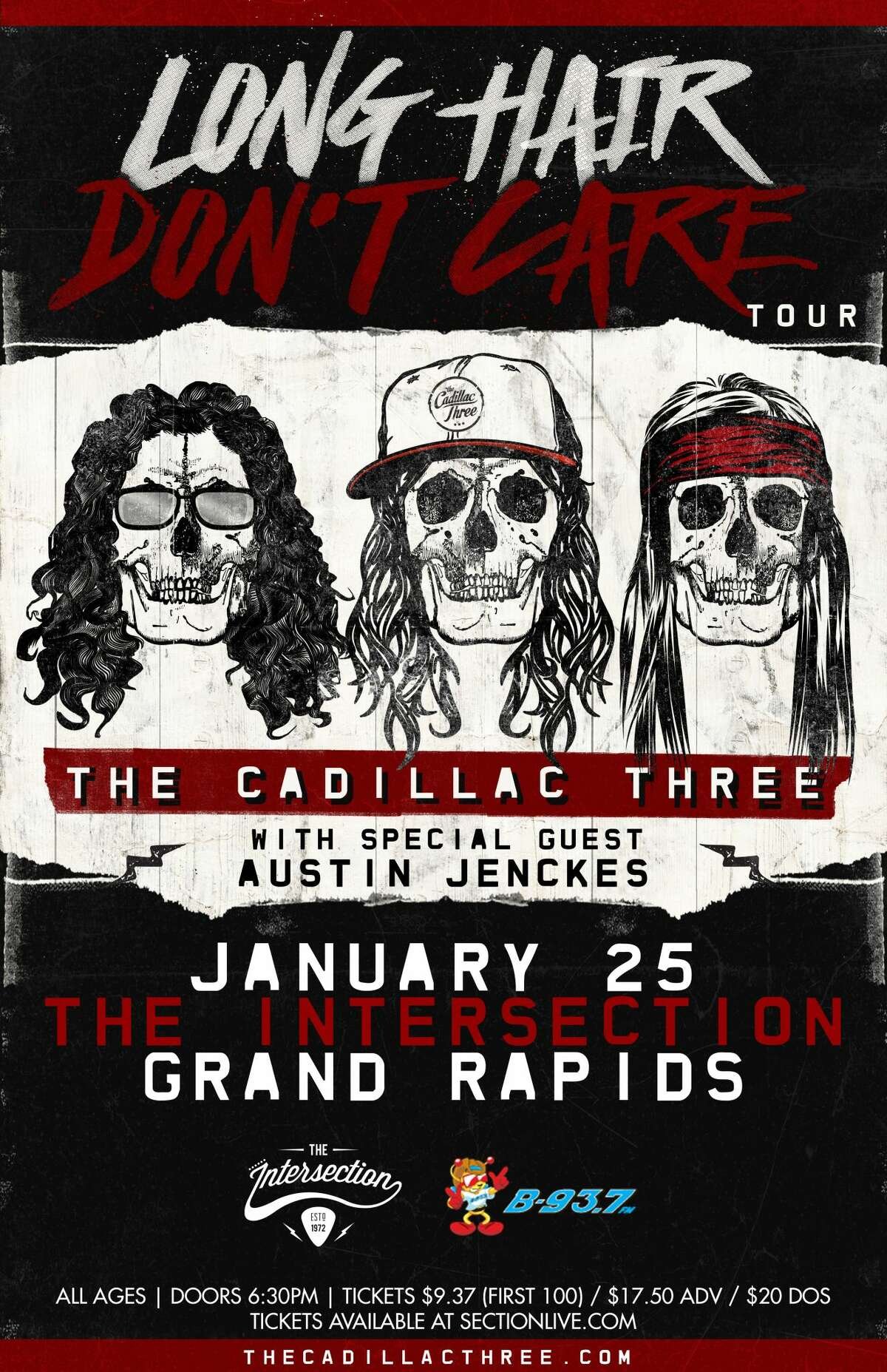 Jan. 25: The Cadillac Three, 6:30 p.m., The Intersection, Grand Rapids, www.sectionlive.com