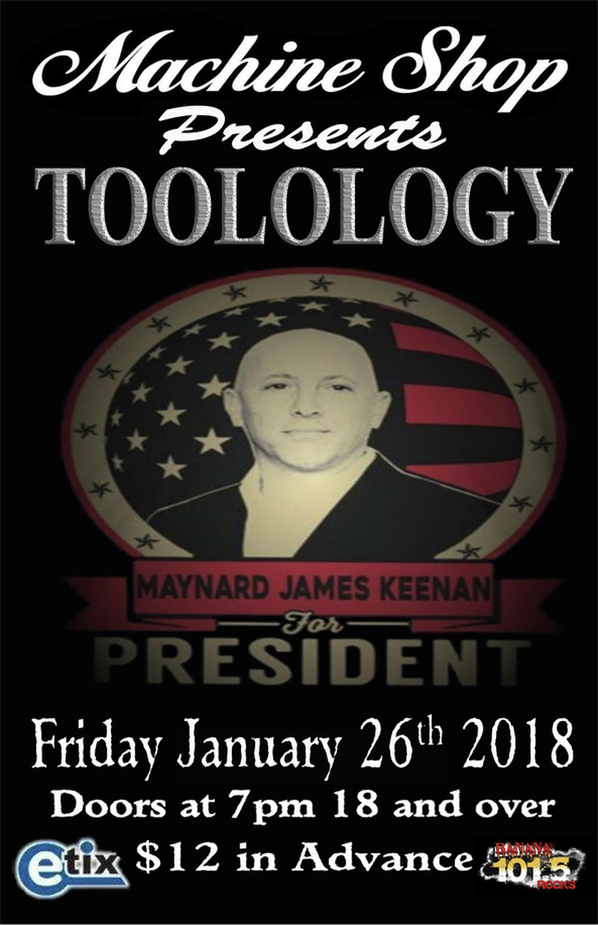 Jan. 26: Toolology, J.R. Casterfish, 7 p.m., The Machine Shop, Flint, www.themachineshop.info
