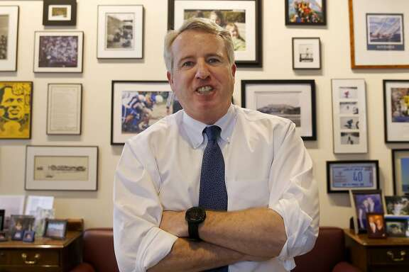 FILE - In this Feb. 8, 2017, file photo, Chicago businessman and Democratic candidate for Illinois Gov. Chris Kennedy poses for a portrait in his office in Chicago. All statewide offices will be on the ballot on Nov. 8, but no contest will be as fevered _ or costly _ as the 2018 governor's race.�Democratic candidates including billionaire JB Pritzker, wealthy businessman Kennedy, and state Sen. Daniel Biss are seeking their party's nomination in the March 20 primary, as voters will decide whether to give Republican Gov. Bruce Rauner a second term. (AP Photo/Charles Rex Arbogast, File)