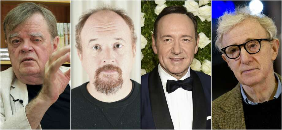 Garrison Keillor, Louis C.K., Kevin Spacey and Woody Allen.
