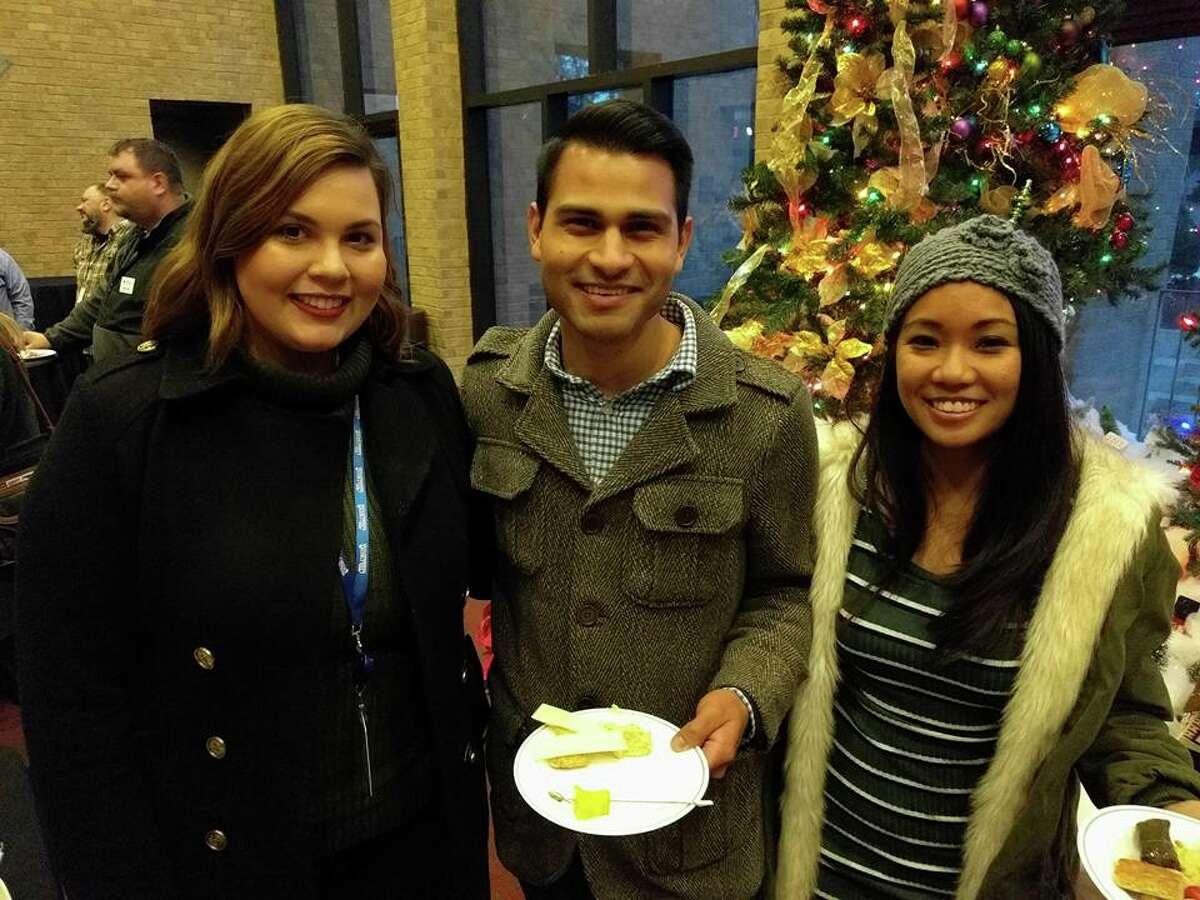 McPherson party: Roxana Rubio,from left, Lupe Zapata and Jolina Okazaki