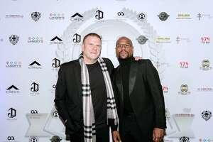 Tilman Fertitta and Floyd Mayweather Jr.