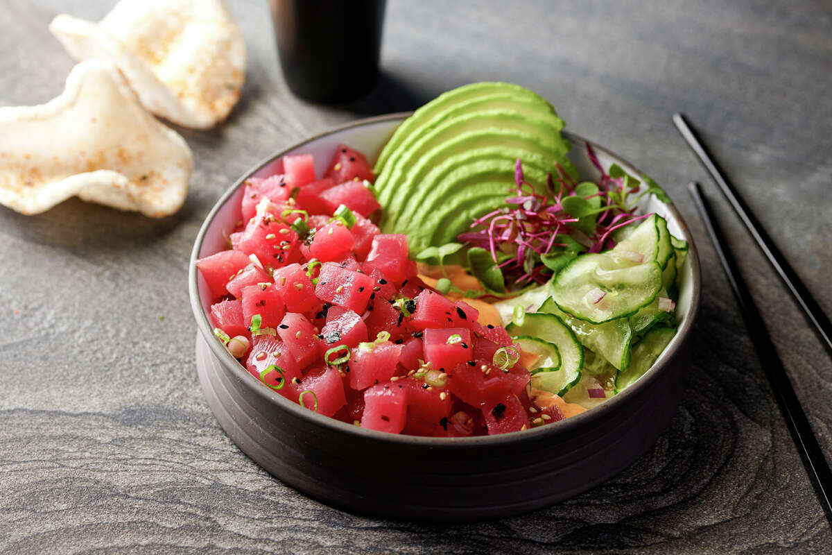 Tuna poke at the new Willie G's Seafood at The Post Oak.