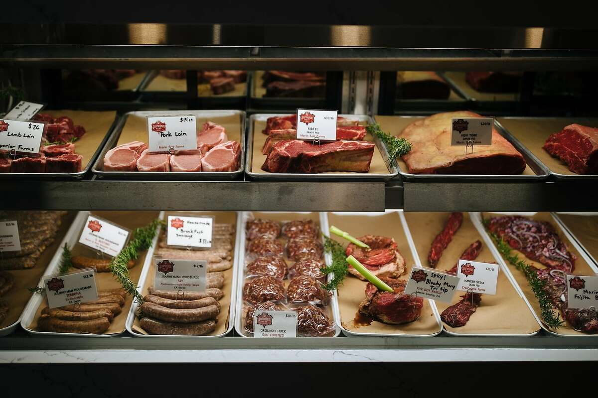Meat selection at the Journeyman Meat Co. in Healdsburg, Calif. Saturday, Jan. 13, 2018.