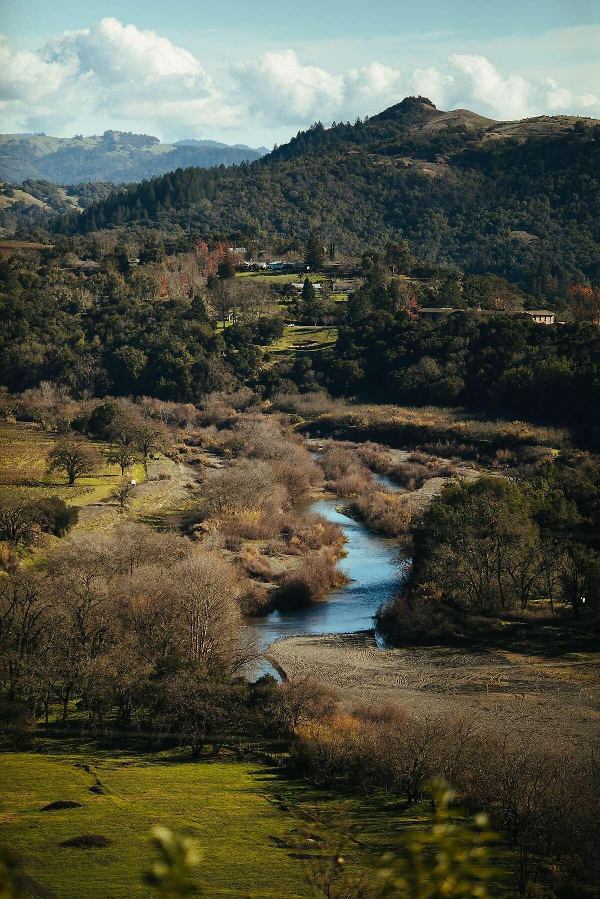 Russian River Overlook seen from the Healdsburg Ridge Open Space Preserve in Healdsburg, Calif. Saturday, Jan. 6, 2018.