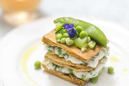Goat-cheese mille-feuilles.