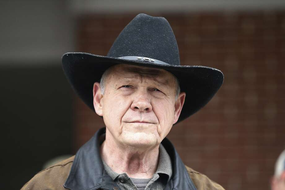 FILE- In this Dec. 12, 2017, file photo, U.S. Senate candidate Roy Moore speaks to the media after he rode in on a horse to vote in Gallant, Ala. Photo: Brynn Anderson, Associated Press