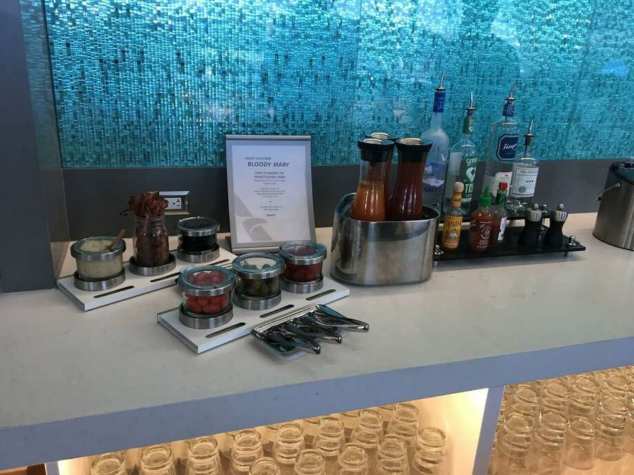 American Airlines recently opened a new lounge at Los Angeles International Airport that includes a Bloody Mary bar. Photo: Hugo Martin /TNS / Los Angeles Times