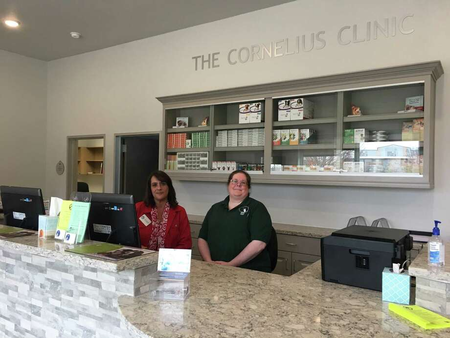 Citizens for Animal Protection opened in January The Cornelius Clinic. From left are Sandi Mercado, CAP executive director and chief administration officer; and Jessica Marks, CAP director of operations and chief operating officer. Photo: Karen Zurawski