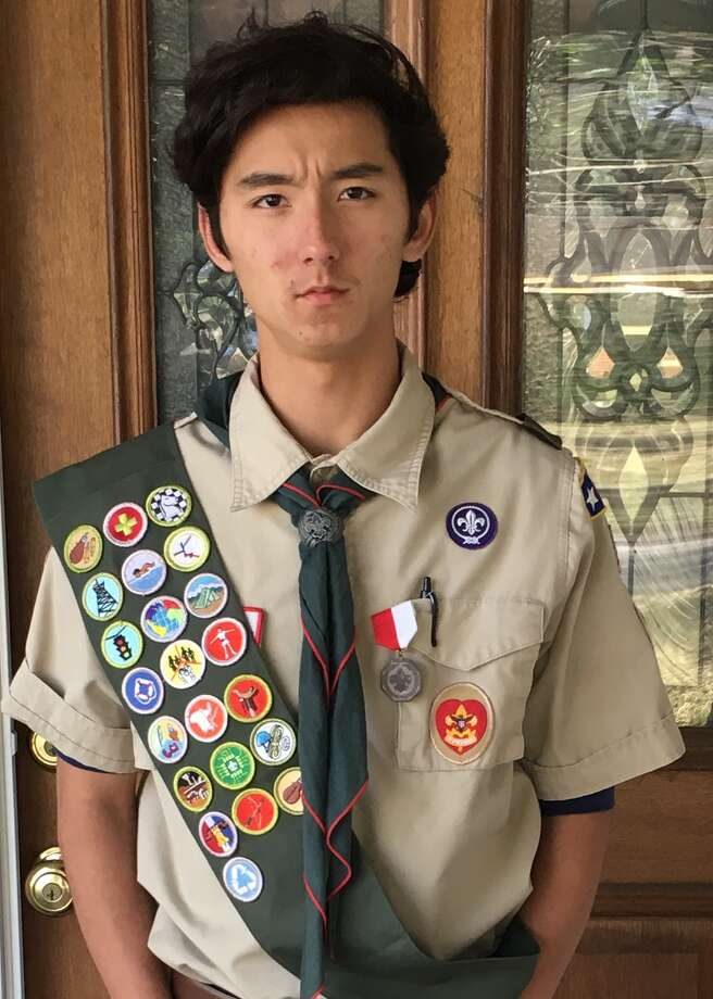 Eric Morris of Oak Forest has earned the Boy Scouts of America's highest advancement award, the Eagle Scout Award. Photo: Courtesy Photo