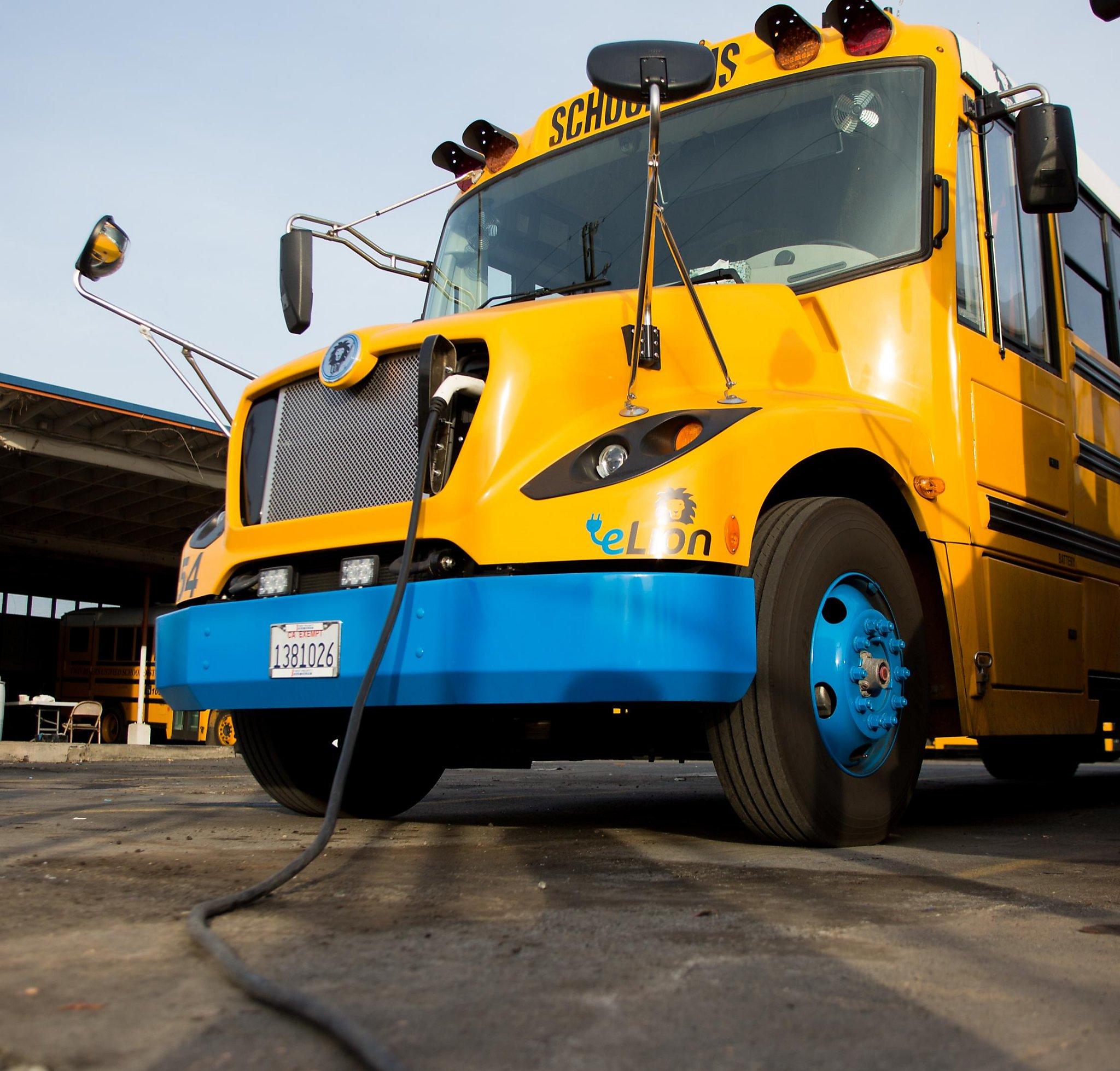 Goodbye, diesel: California school buses drive toward