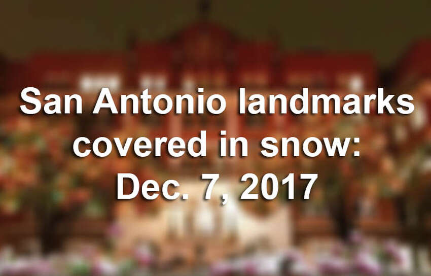 Pictures taken around San Antonio Thursday, Dec. 7, 2017, evening looked worthy of a postcard.