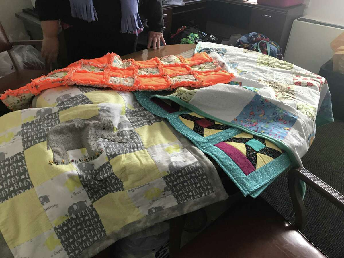 Blankets such as these are given to children in the foster system through Blanket Fairy Mission of Greater New Haven.