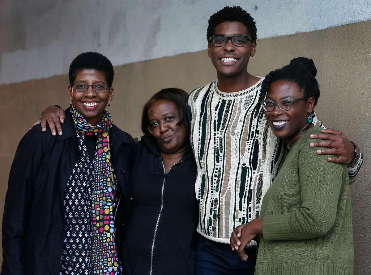 From left, actors Velina Brown, Edris Cooper-Anifowoshe, Rodney Earl Jackson, Jr. and Jeun�e Simon gather in San Francisco, Calif. on Thursday, Jan. 11, 2018.