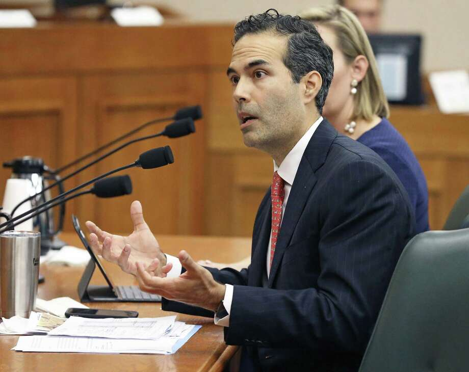 Land Commissioner George P. Bush answers questions as the Senate Finance Committee takes up state expenditures by the General Land Office for the Alamo on Dec. 5, 2017. Photo: Tom Reel /San Antonio Express-News / 2017 SAN ANTONIO EXPRESS-NEWS