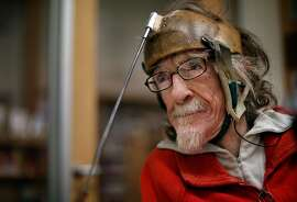"""Hale Zukas at the Berkeley Library in Berkeley, Calif., on Thursday, December 21, 2017. """"Hale"""" is a short documentary that follows Zukas, a Berkeley-based disability rights pioneer. The film recently took home a Student Academy Award, which makes it eligible for the actual Oscars."""