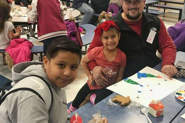 "Rusk Elementary's ""Donuts with Dad"""