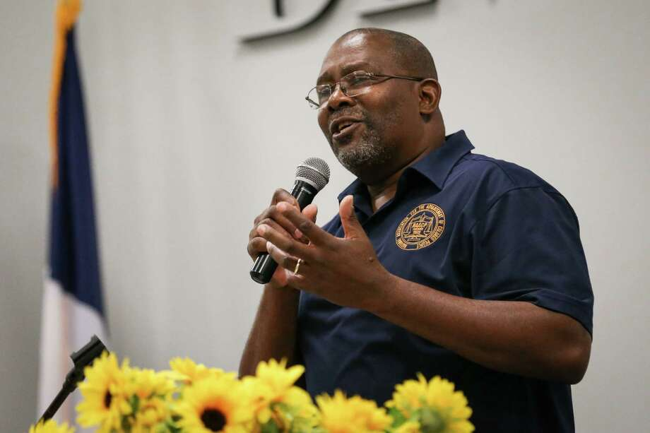 Carl White, Montgomery County NAACP President, speaks during the Martin Luther King, Jr. Day celebration on Monday, Jan. 15, 2018, at the Lone Star Community Center in Montgomery. Photo: Michael Minasi, Staff Photographer / © 2017 Houston Chronicle