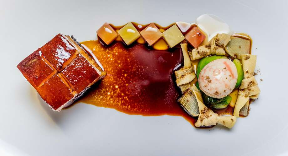 Red dongpo pork at Eight Tables. Photo: John Storey, Special To The Chronicle