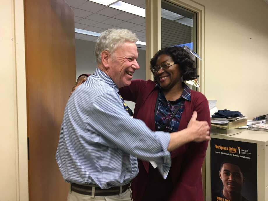 Andy Wolf, director of arts, culture and tourism in New Haven, wishes Martha Okafor, who headed the city's Community Services Administration, the best on her resignation. Photo: By Mary E. O'Leary