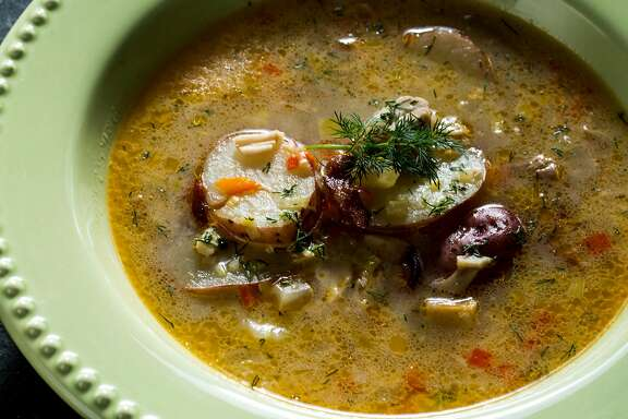 White fish chowder photographed at the San Francisco Chronicle Studio in San Francisco, Calif. on Friday, Jan. 12, 2018.