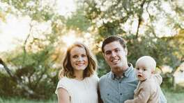 Ryan Folsom, 29, a fourth-year student at UT Health San Antonio's School of Medicine, died Jan. 7 when a wrong-way driver hit his car head on in California. Folsom is shown here with his wife, Lauren, and their sons, Cal and Grady. A GoFundMe campaign for Folsom's widow and children has drawn donations from all over the world.