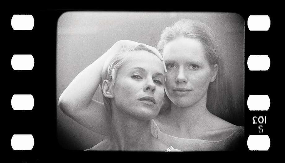 Bibi ANdersson (Left) and Liv Ullmann in Ingmar Bergman's movie Persona (1966) Photo: Courtesy Of Taschen Books